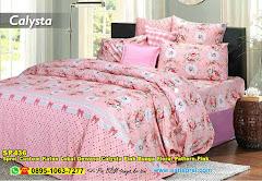 Sprei Custom Katun Lokal Dewasa Calysta Pink Bunga Floral Pattern Pink
