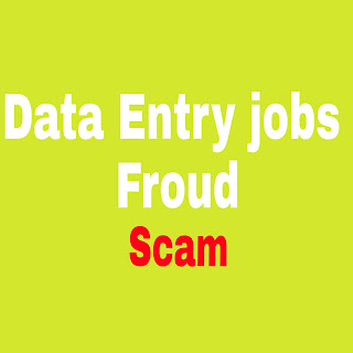Data entry job froud complaints