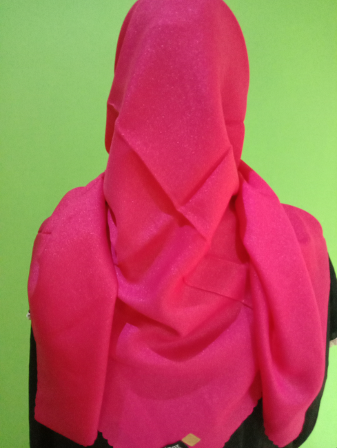 Kerudung Shinar Glamour Sonic Hot Pink