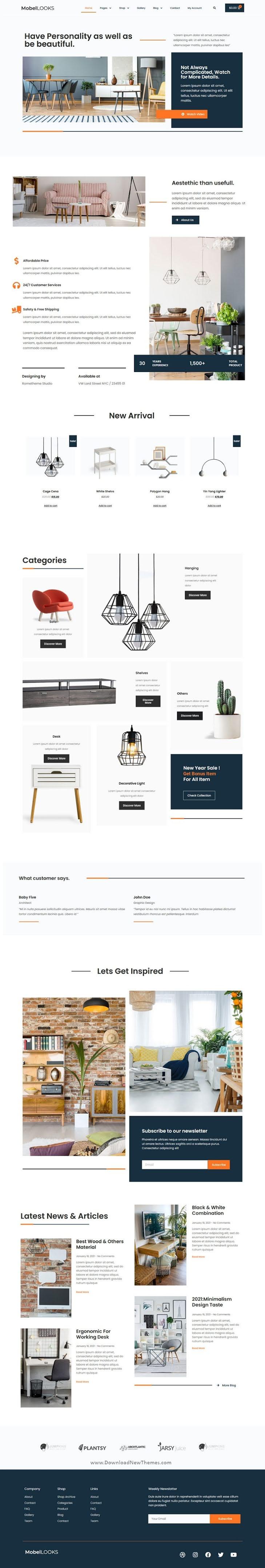 Furniture Store WooCommerce Elementor Template Kit