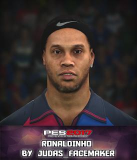PES 2017 Faces Ronaldinho by Judas