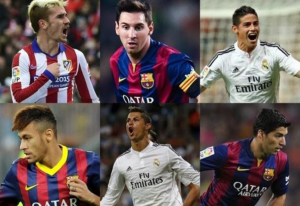 11 Pemain Terbaik Liga Spanyol 2014-2015