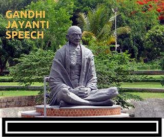 gandhi jayanti speech in english