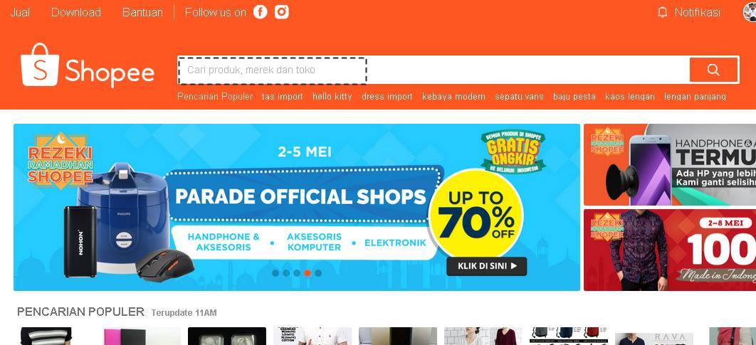 Cara Belanja Online Di Shopee Zonet Id