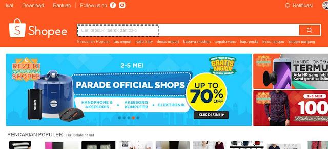 cara belanja online di shopee