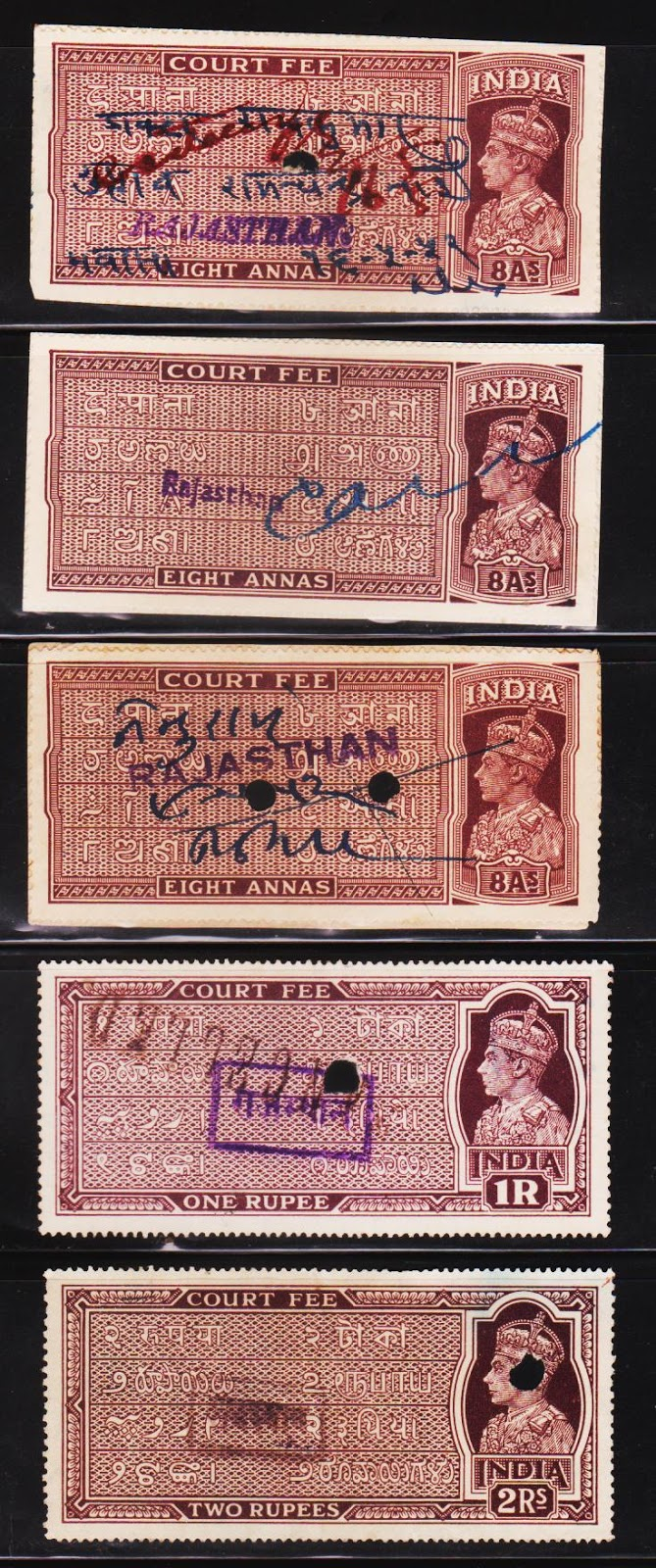 Heritage Of Indian Stamps Site British India King George