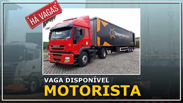 Transportadora Bozza abre 10 vagas para Motorista