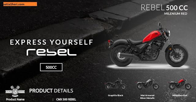 Harga Resmi Honda CMX500 Rebel Terbaru