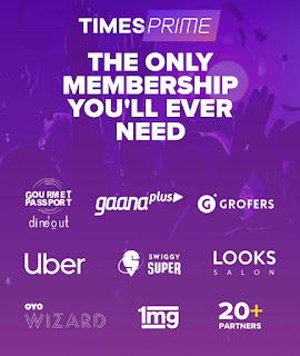 【सुपर लूट】 TimesPrime 1 year Membership Free | Free Ganna, Uber, Swiggy & More