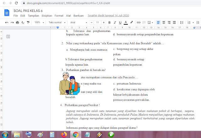 Download Contoh Soal PAS Kelas 6 Tema 4 Kurikulum 2013 Revisi Terbaru