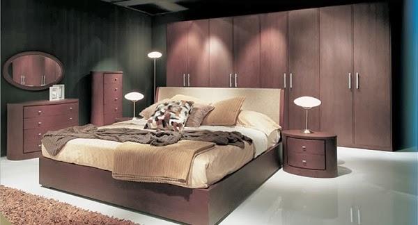 habitación color chocolate beige