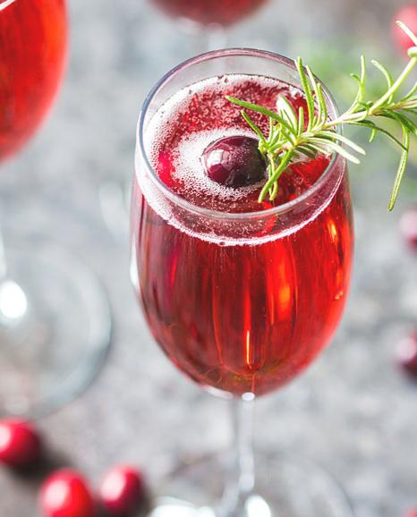 CRANBERRY MIMOSAS #drink #delicious