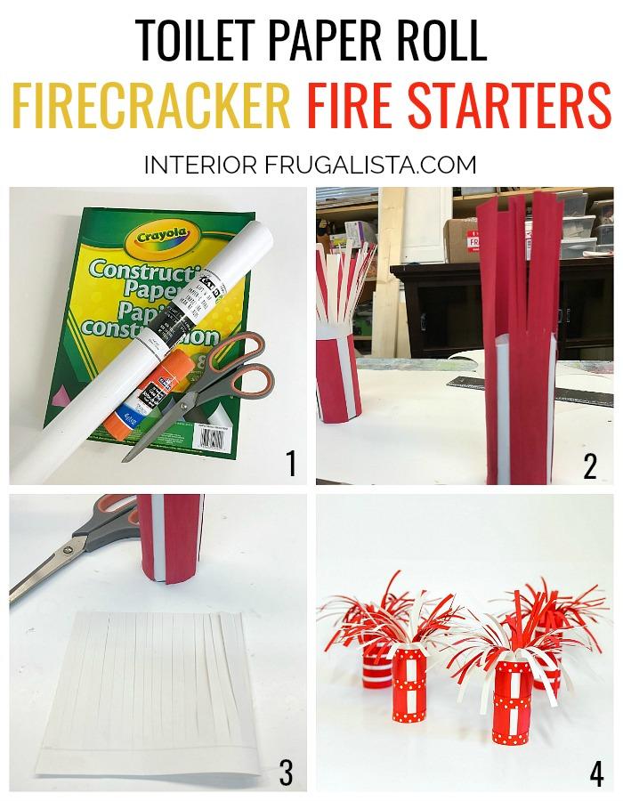 Toilet Paper Roll Firecracker Fire Starters