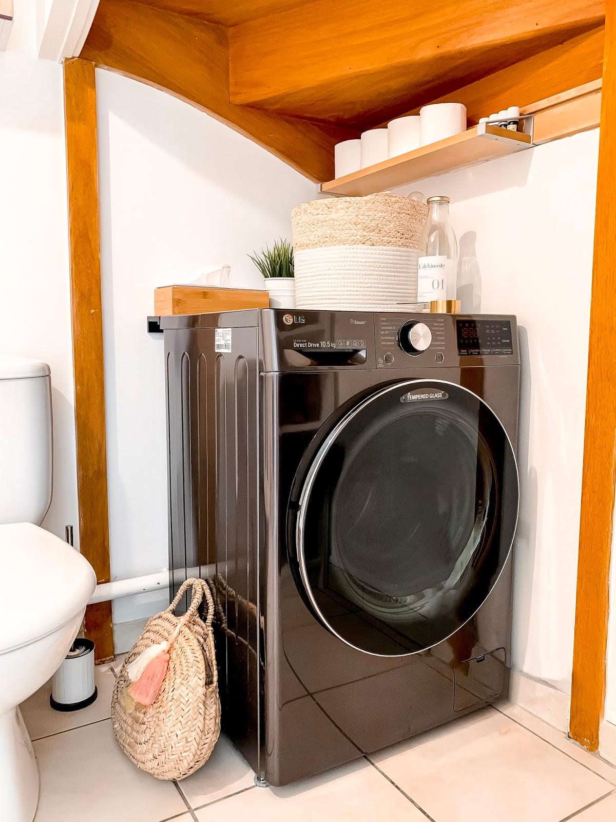 avis machine à laver LG turbowash 360 lave linge sèche linge buanderie wc toilettes déco aménagement décorer lessive les petits bidons maison plouf l'alchimiste