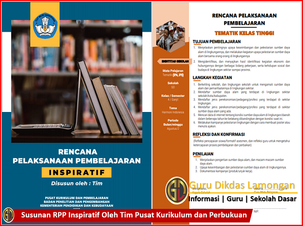 Susunan RPP Inspiratif Oleh Tim Pusat Kurikulum dan Perbukuan