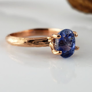 Montana Sapphire Twig Engagement Ring