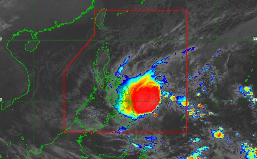 Satellite image of Tropical Storm Auring