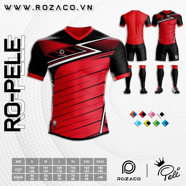 Áo Không Logo Rozaco RO-PELE Màu Đỏ