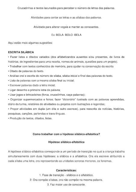 Niveis da escrita pdf