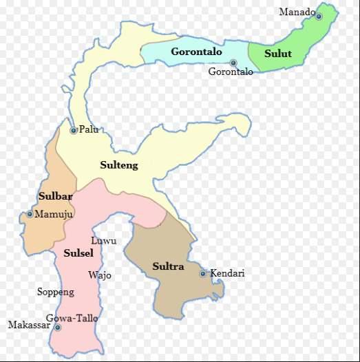 Peta Kerajaan Islam di Sulawesi