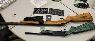 Polícia de Picuí prende individuo que estaria efetuando disparos de arma de fogo no Alto do Cruzeiro