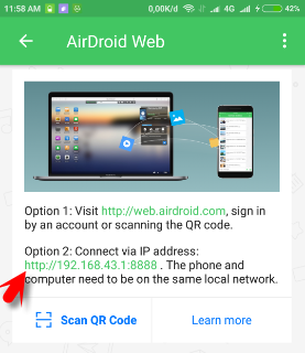remote hp android dengan air droid