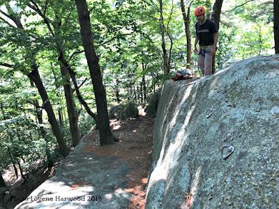 rock climbing, pink floyd wall, redrocks, gloucester, MA.