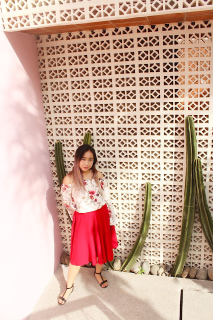 This is a photo about summer days in Bali called Bell Floral and Flare Red by Sidney Scarlett from www.sidneyscarlett.com