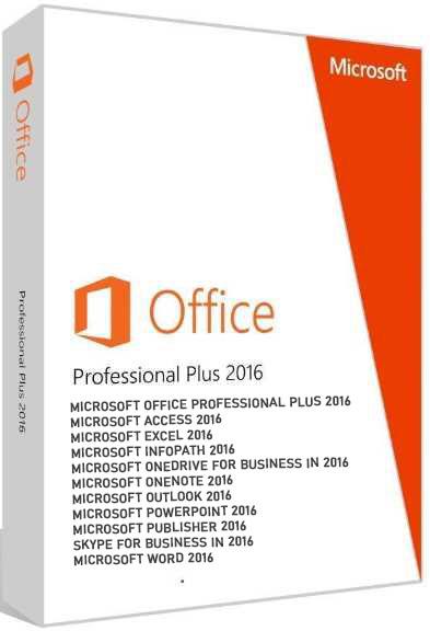 Microsoft Office 2016 Pro Plus 16.0.4978.1000 VL poster box cover