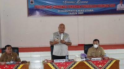 Rapat Koordinasi Pengelolaan Keuangan Desa Se- Kabupaten Nias Utara