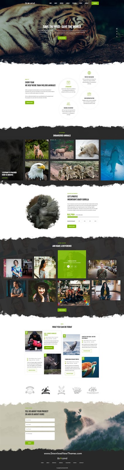 Environment & Ecology PSD Template