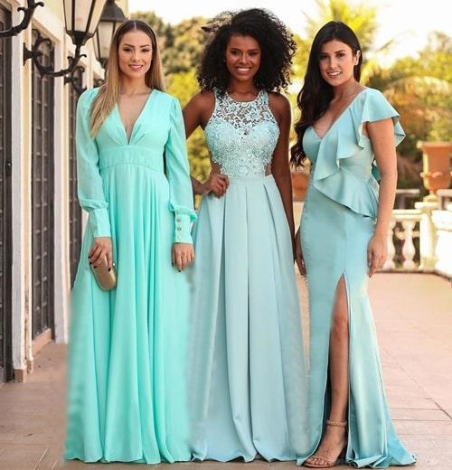 vestido verde claro para madrinha de casamento