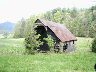 Another barn, this one a newer one built with milled lumber and a metal roof.
