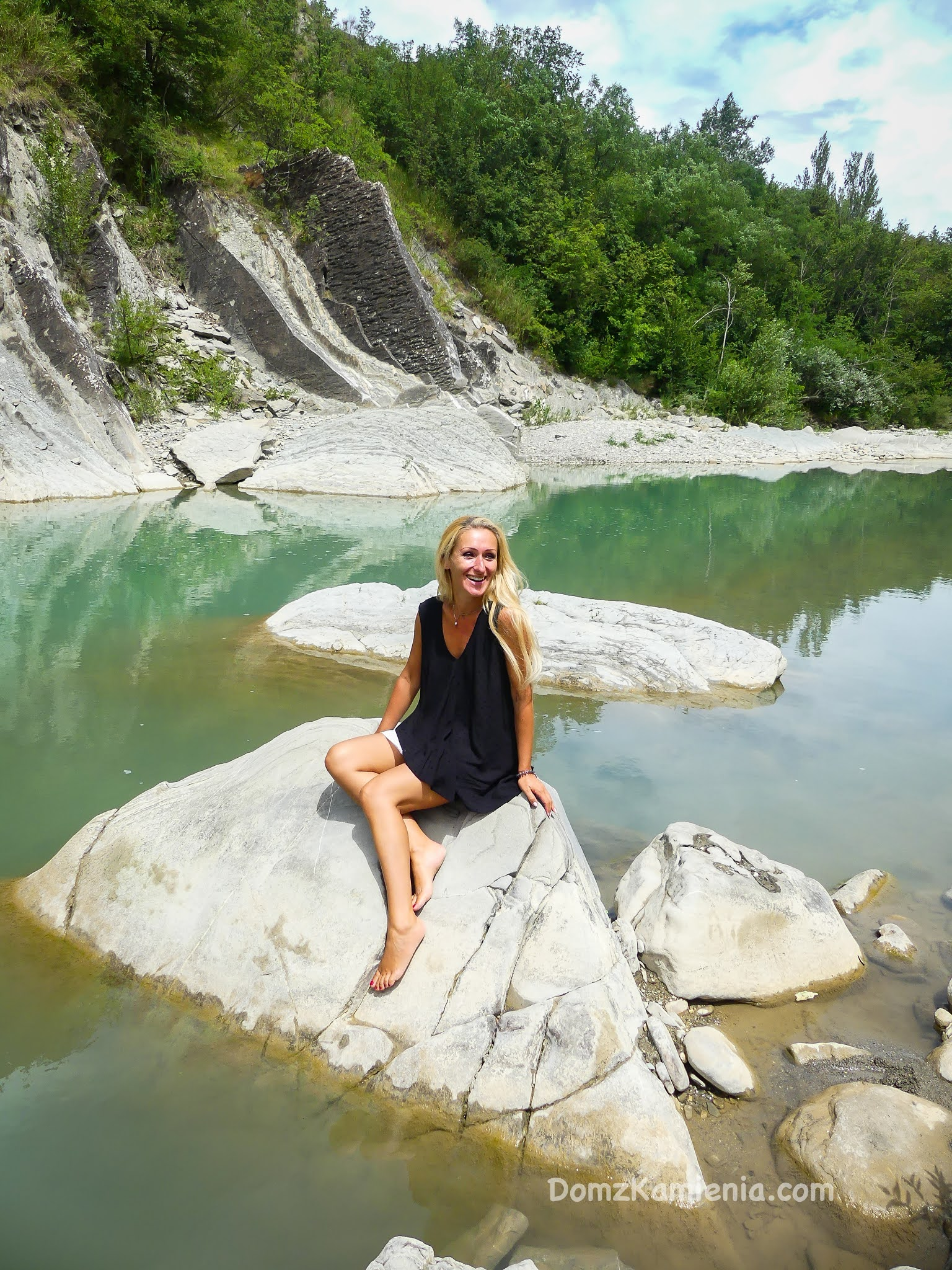 Kasia Dom z Kamienia - rzeka Santerno
