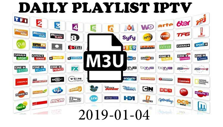 Daily Hits IPTV Playlist 2019-01-04