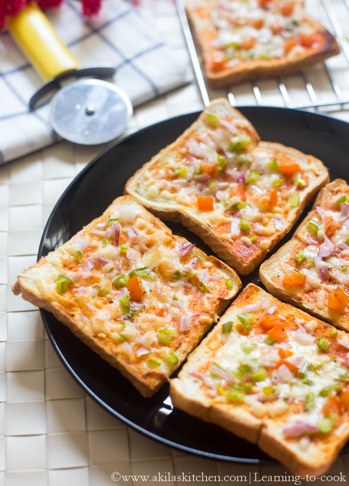 Take 5 Oil >> Learning-to-cook: Bread Pizza | How to make Bread Pizza Indian Style