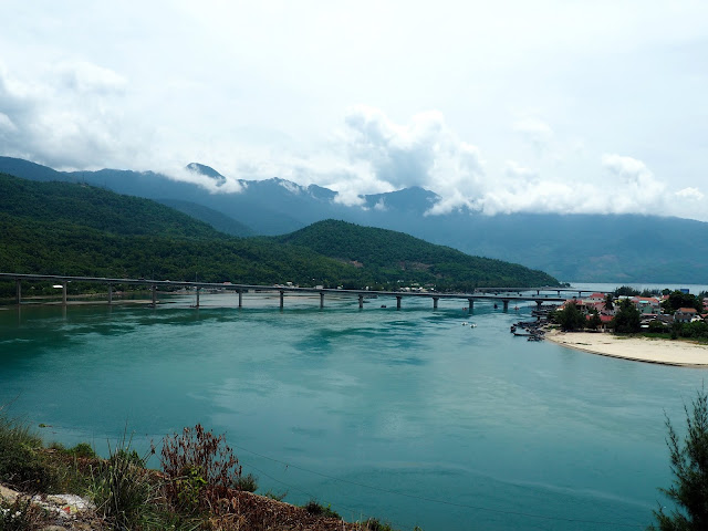 Scenery on the drive from Hoi An to Hue, through Vietnam