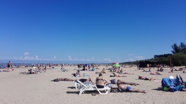 Beach Vecaki Riga Latvia