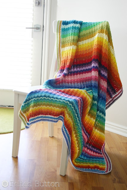 Illuminations Blanket FREE crochet pattern by Susan Carlson of Felted Button
