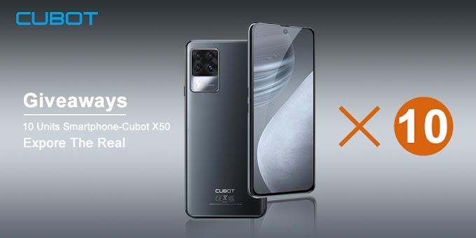 Sorteio de 10 Smartphones Cubot X50