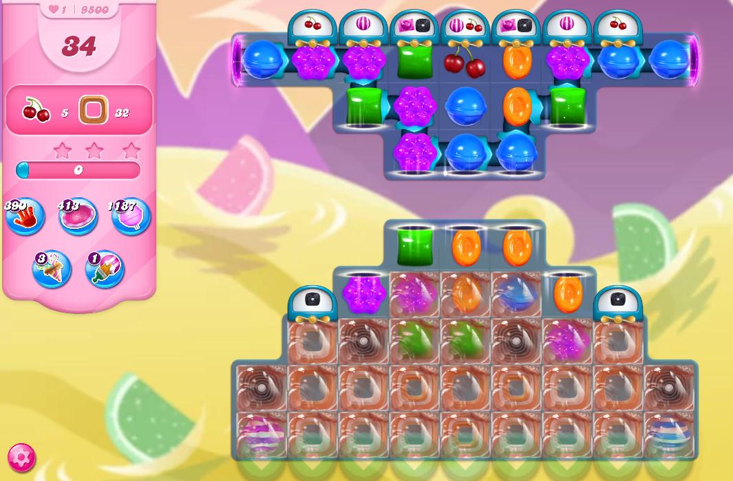 Candy Crush Saga level 9500