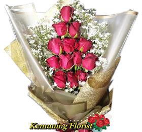 Handbouquet Bunga Segar Packing Premium <price>Rp.150.000 </price> <code>SKU-B12</code><br> Kemuning Florist Malang
