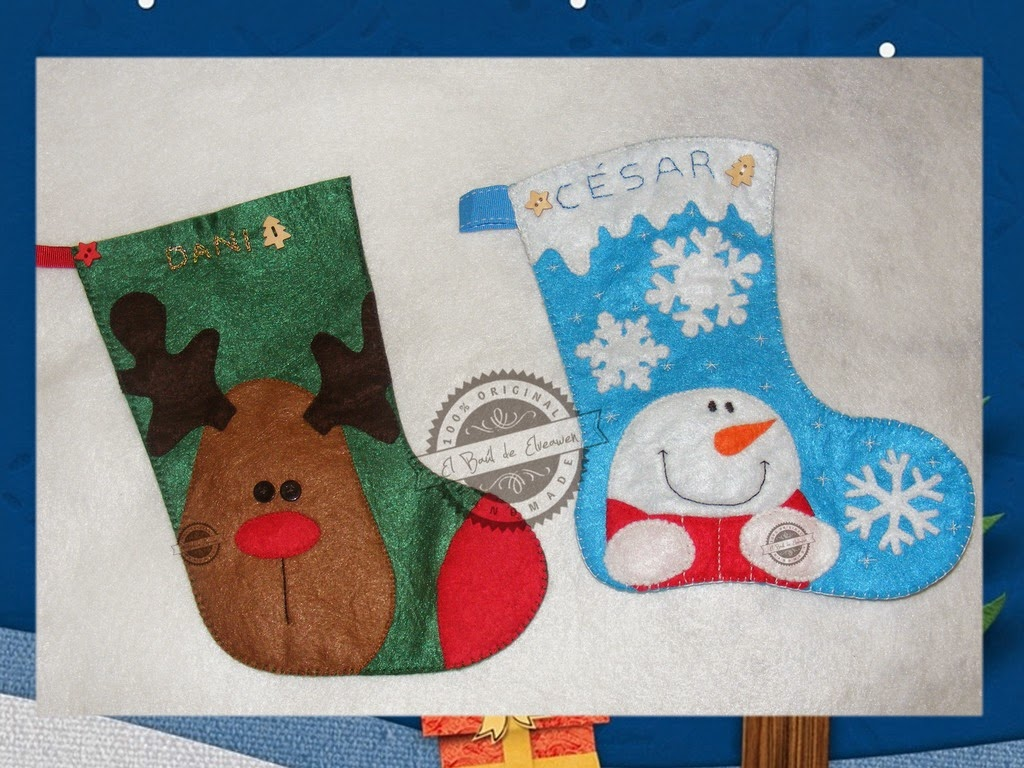 Botas De Navidad Decorada Por Ni Ef Bf Bdos