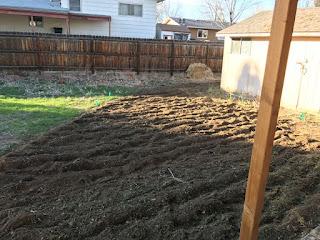 Freshly tilled dirt