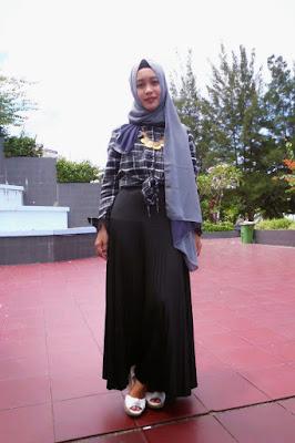 tutorial hijab qasima di kamaar kemeja Flannel cowok