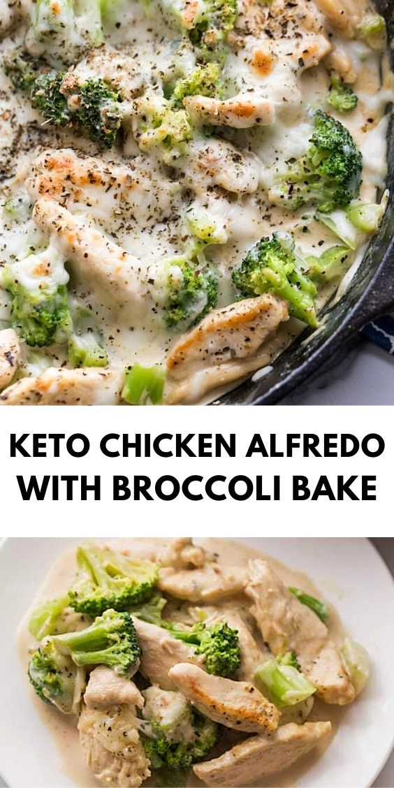 Keto Chicken Alfredo with Broccoli Bake