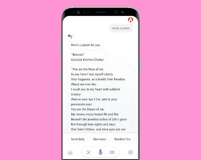 Google Assistant Can Recite a Poem