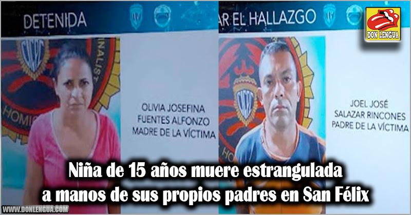 Niña de 15 años muere estrangulada a manos de sus propios padres en San Félix