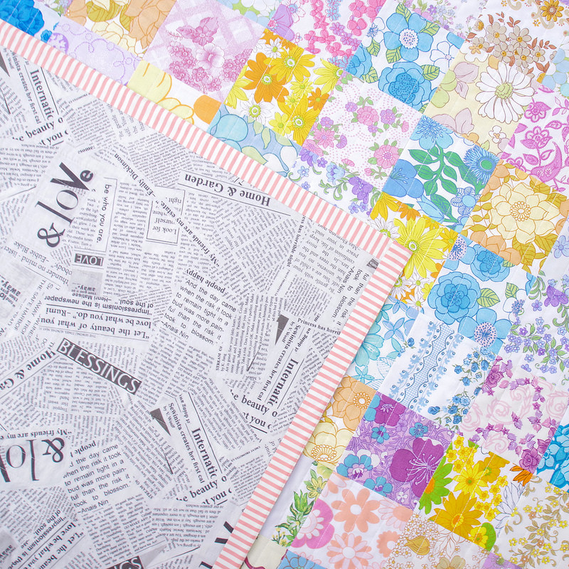Vintage Linens Patchwork Quilt - with Faced Binding | © Red Pepper Quilts 2018