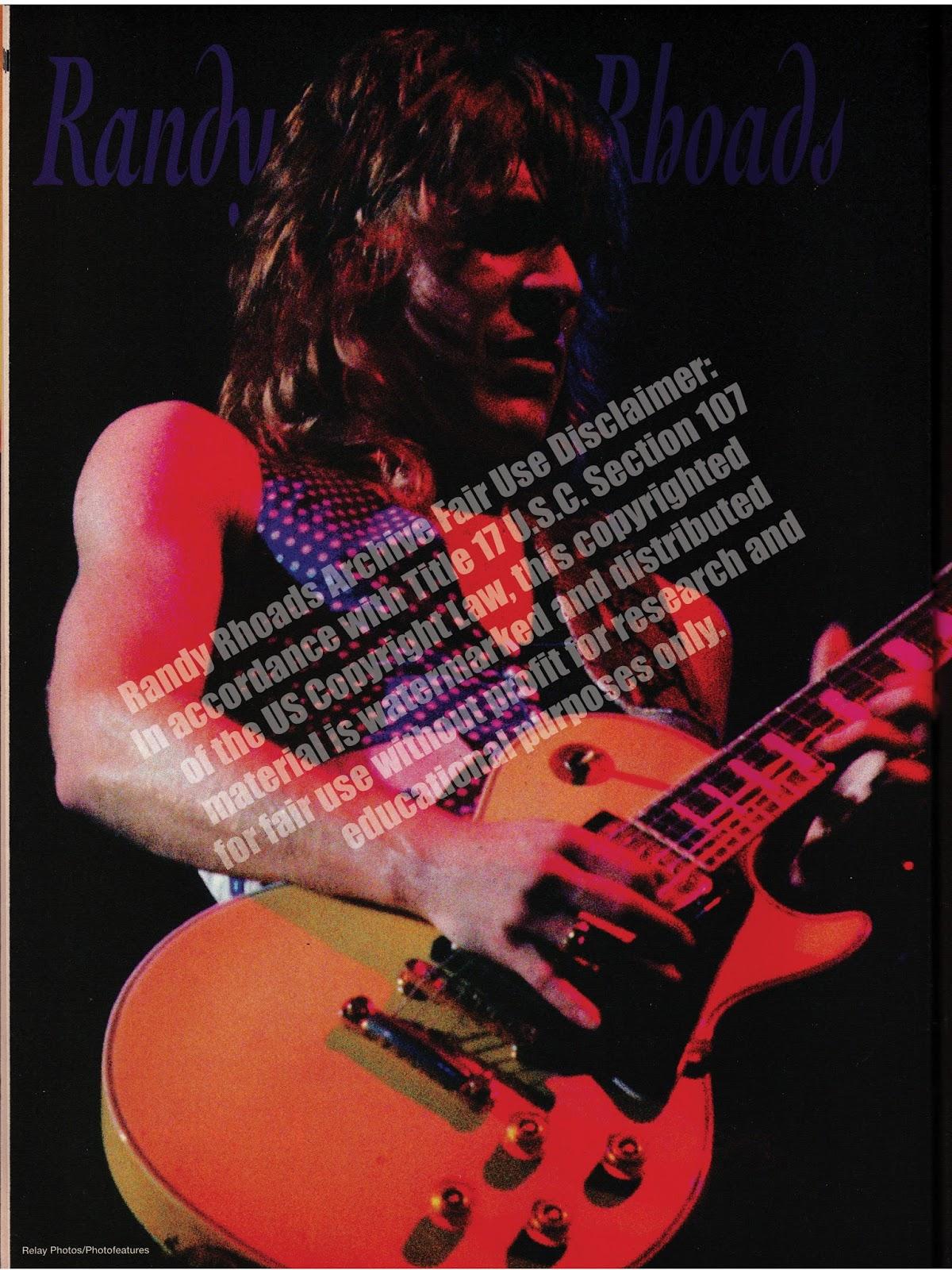 Randy Rhoads Archive Guitar July 1992 Jackson V Wiring Diagram For